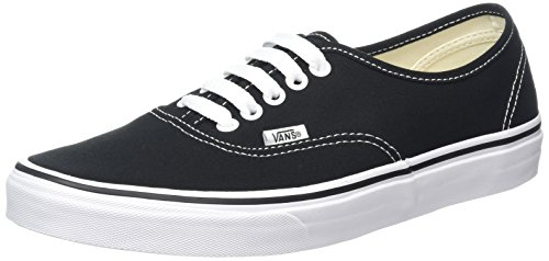 Vans Authentic Classic, Unisex Adult Low Top Lace-up Trainers, Black (Black/White), 14 UK (49 EU)