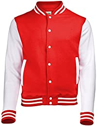Coole-Fun-T-Shirts COLLEGE JACKE weißer Ärmel in black, red, 0cf6678806