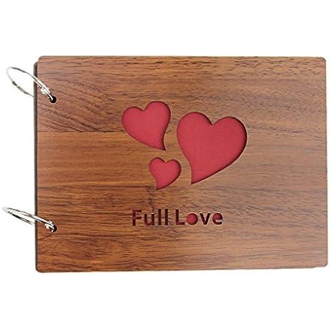 Classic personalizado hecho a mano DIY álbum de fotos álbum de fotos libro elegante Creative diseño de regalo para boda–aniversario feliz memoria, Full Love,
