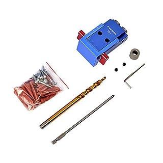 Mini-Taschenlochbohrer-Dübel-Jig mit 9,5 mm Stufenbohrer, Holzbearbeitungswerkzeug-Set für Holzbearbeitungswerkzeuge