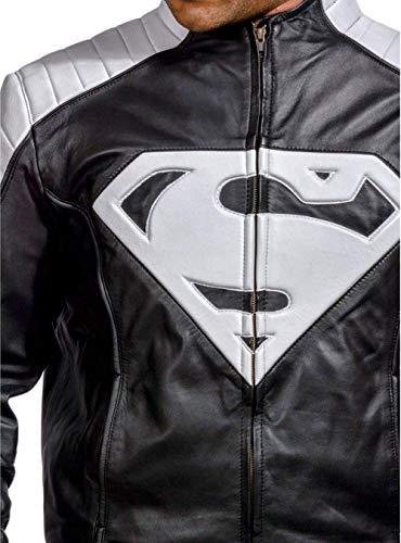 Oscar Leathers Superman Smallville Echte Lederjacke-XL