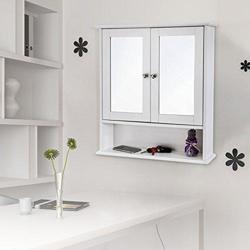 Spiegelschrank mit Ablage aus Holz 56cm - 6
