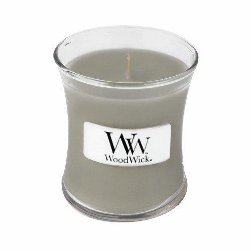 Amber Windlicht (WoodWick by Pajoma 62471 Duftkerze Fireside Hourglass, Brenndauer circa 40 Stunden, 93 g)