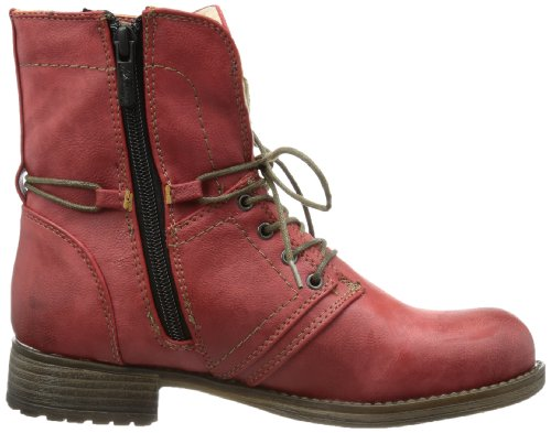 Mustang  Schnür-Booty, bottes & bottines femme Rouge - Rot (rot 5)