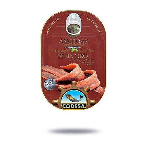 Filetti di Acciughe Mar Cantabrico Serie Oro CODESA 190 g- ACCIUGHE CODESA ANCHOAS SERIE ORO 190 g