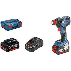 Bosch Professional Visseuse A Chocs Sans Fil GDX 18V-200 C (18V, 2 batteries 5,0 Ah, Ø des vis : M 6 - M 16, couple: 200 Nm, L-Boxx)