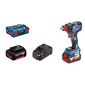Bosch Professional GDX 18V–200 C – Llave de impacto a batería (18V, 200Nm, conectable, 2 baterías x 5.0 Ah, en L-BOXX)