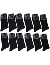 KARL LOVEN Lot DE 12 Paires de Chaussettes remaillé en Fil d'Ecosse 100% Coton - Taille - 39-42/43-46/47-49