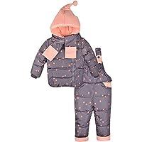 Zoerea Unisex Bambino Bambini di 3 Pezzi Snowsuit con Cappuccio Giubbotto Imbottito fototecnica Sci Pantaloni Set