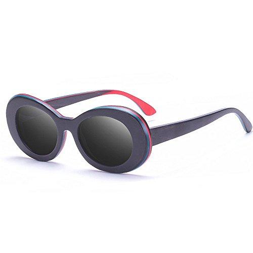 Ppy778 Klassische Retro Sonnenbrille Full Frame UV400 (Color : Blue)