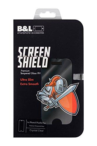 B&L Screen Shield iPhone 6 Plus 6s Plus 5,5 Zoll Premium Panzerglas-Folie Screen Protector Panzerfolie Displayschutzfolie Tempered Glass Schutzfolie Schutzglas 9h ultra-slim Echtglas transparent 0,3mm (I 6 Plus Phone Shield Protector)
