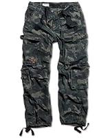 Surplus Men's Cargo Trousers - Black Camo - M