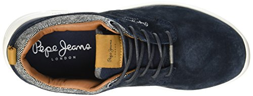 Pepe Jeans London Jayden, Baskets Basses Homme Bleu (585Marine)