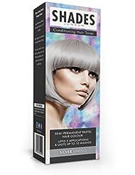 Shades London Semi-permanente Pastell-Haartönung Silver Lining, 1er Pack(1 x 75 ml)