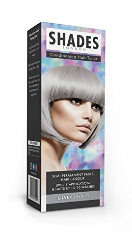 Shades London Semi-permanente Pastell-Haartönung Silver Lining, 1er Pack(1 x 75 ml)