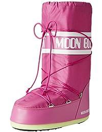 Tecnica Moon Boot Nylon Nero, Unisex-Kinder Outdoor SchneeStiefel,