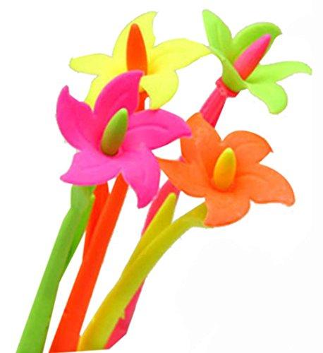 Set von 12 nett Blume-Gel-Feder mit Fragrance (Farbe Random)