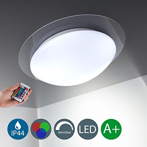 Lámpara de techo LED, regulable, 16 tonos seleccionable mediante mando de distancia, redondo /blanco