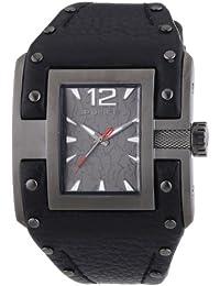 Police PL.13401JSU-61 - Reloj analógico de cuarzo para hombre con correa de piel, color negro