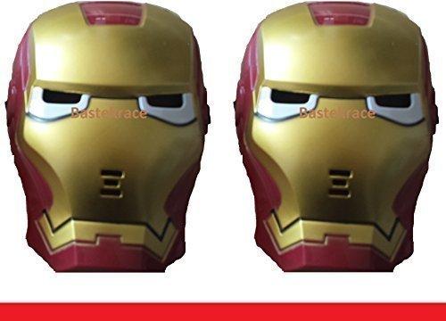 2 neue günstige Masken Iron + Spidermen mit LED Beleuchtung für Kinder
