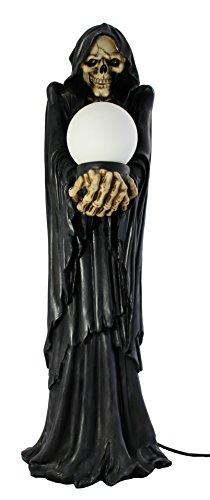 Dekofigur Skelett mit Licht groß Totenkopf Gothic Mystic Dekoration Wohnung Lampe Zimmerdeko