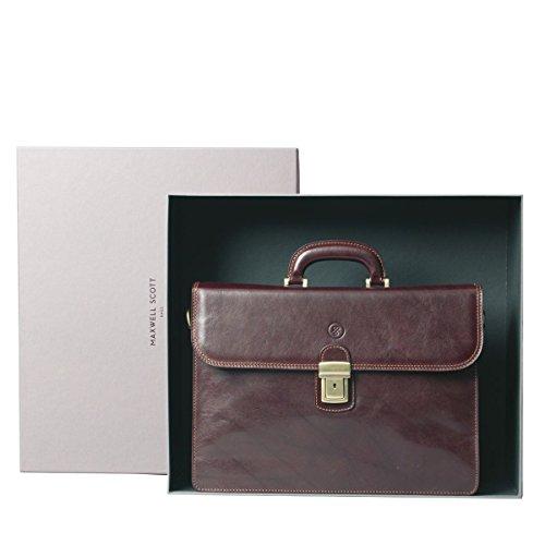 Maxwell Scott Bags® Luxus Leder Aktentasche in Cognac Braun (Paolo2) Cognac