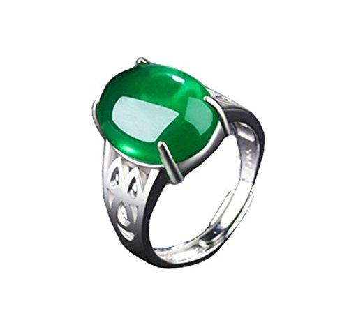 Doitsa 1x anillo ágata Natural anillo apertura