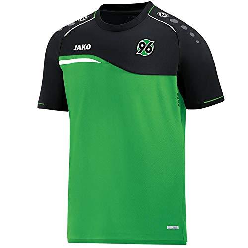 JAKO Hannover 96 T-Shirt Competition 2.0 grün-schwarz Soft Green/schwarz, XL