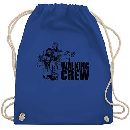 JGA Junggesellenabschied - The Walking Crew - Zombie JGA - Unisize - Royalblau - WM110 - Turnbeutel & Gym Bag