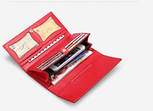 GBT Frau Brieftasche langen Abschnitt Red