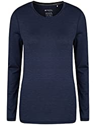 Mountain Warehouse T-shirt Femme Sous Pull Confortable Absorbant Respirant Panna