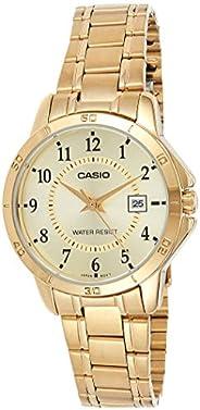 ساعة يد نسائية من كاسيو ، انالوج بعقارب ، ستانلس ستيل ، ذهبي ، LTP-V004G-9B