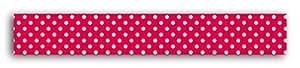 Toga MT37 Ruban de Masquage Pois Washi Tape Rouge/Blanc 5,5 x 7 x 1,5 cm