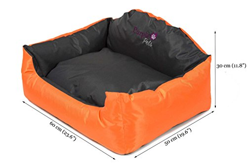 Dog Bed, Dog Cushion, Puppy Bed, Dog Pillow, Dog Sofa, Dog Baskets, Water resistant, Easy Clean, Purple-Pets 'Modern' 3