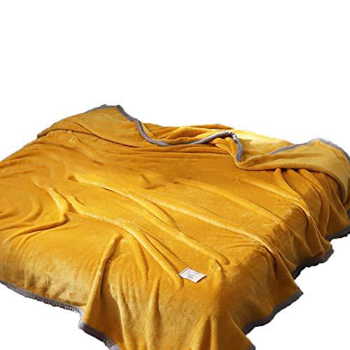 BESTQIAO Super weiche Reversible Fleecedecke, Warm Faux Pelz Überwurfdecke Tagesdecke Lightweight Sofa Decke-C 150x200cm(59x79inch) (Faux-pelz Tagesdecke)