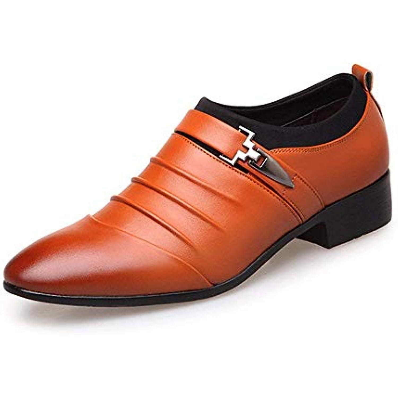 FuweiEncore Cuir 2018 Chaussures Business pour Hommes en Cuir FuweiEncore Lisse Lisse avec empièceHommes ts en Cuir et Doublure Respirante... - B07KK9VYKJ - 55f91c