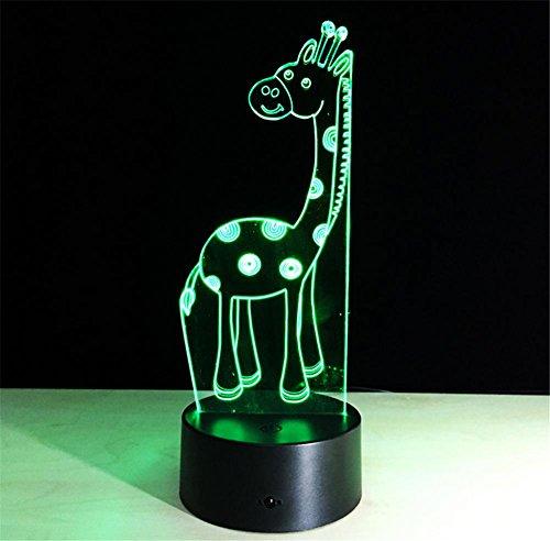 Giraffe Desk Lamp 3d 7 colori cambiano tocco passare Tabella telecomando luce principale di notte di illuminazione della decorazione della casa Accessori Casalinghi