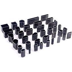 Troqueles para Móvil Perforadora de cuero Profesional 5mm-30mm Set Herramientas Bricolaje con Agujeros para Cortar Cuero Mano con 39 Tamaños