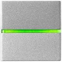 Niessen zenit - Interruptor monopolar con piloto 2 módulos zenit plata