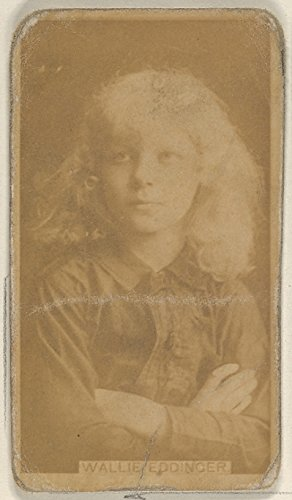 \' - Wallie Eddinger from The Actors and Actresses Series (N45 Type 8) for Virginia Brights Cigarettes Kunstdruck (45,72 x 60,96 cm)