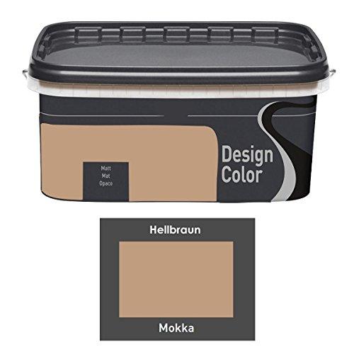 Design Color 5 L. farbige Innenfarbe, Wandfarbe, Farbwahl, Matt (Mocca, Mokka, Braun)