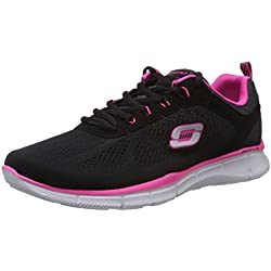 Skechers Donna EQUALIZER - NEW MILESTONE scarpe sportive nero Size: 38