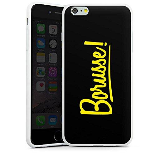 Apple iPhone 7 Silikon Hülle Case Schutzhülle Borusse Borussia Dortmund BVB Silikon Case weiß