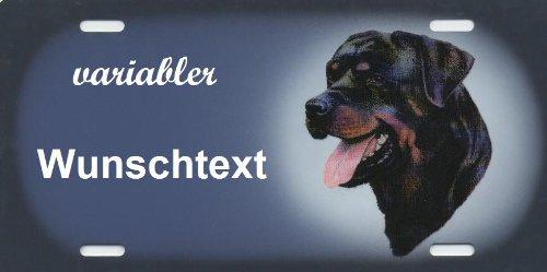 Hundeschilder Rottweiler selbst gestalten und Bedrucken ✓ Hundewarnschilder ✓ Hinweisschild ✓ Verbotsschild (Hundebox Rottweiler)