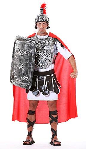 Römischer Zenturio Kostüm Tunika Soldat mit Mantel Rock (Rüstung ausgeschlossen)