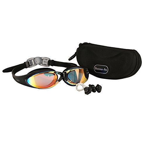 occhialini-da-nuoto-bezzee-pro-per-adulti-lenti-a-specchio-colore-arancione-fascetta-in-silicone-di-