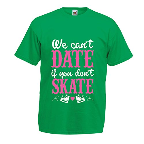 Männer T-Shirt Kein Skate, Kein Datum - Coole Zitate Geschenk, Lustige Dating Zitate (X-Large Grün Mehrfarben)