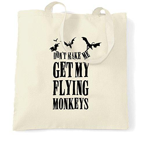 Halloween Tragetasche Lassen Sie mich nicht meine Fliegen-Affen Get Natural One Size (Dorothy Halloween)