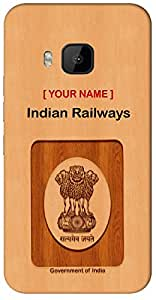 "Aakrti Mobile Back cover with your Dept: Indian Railways.Express your ID in Your Way With "" Your Name "" Printed on your Smart Phone : HTC M7"