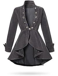 XL-5XL Rüschenjacke Jacke Rüschen Gehrock Mantel Gothic Lolita Victorian